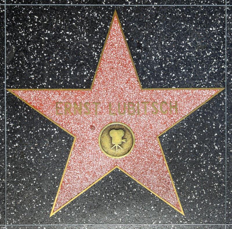 De ster van directeur Ernst Lubitschs op Gang Hollywood van Bekendheid royalty-vrije stock foto's