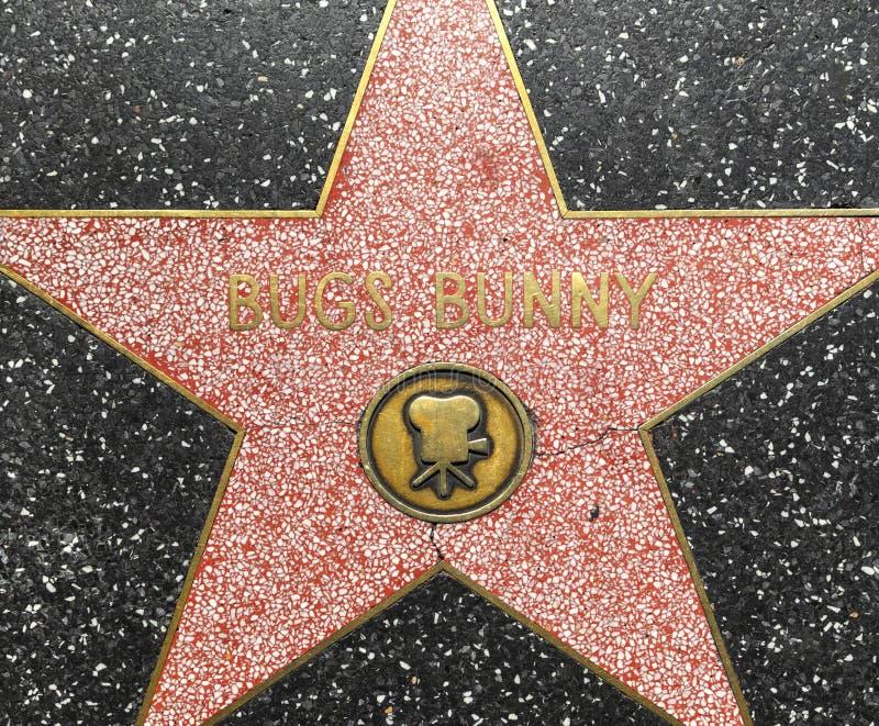 De ster van het Konijntje van insecten op Gang Hollywood van Bekendheid stock foto