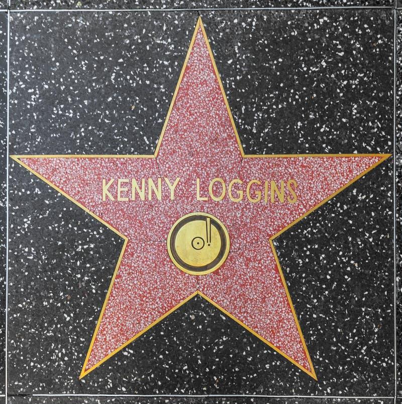 De ster van Kenny Loggins van de zanger en songwriter op Gang Hollywood van Bekendheid royalty-vrije stock afbeelding