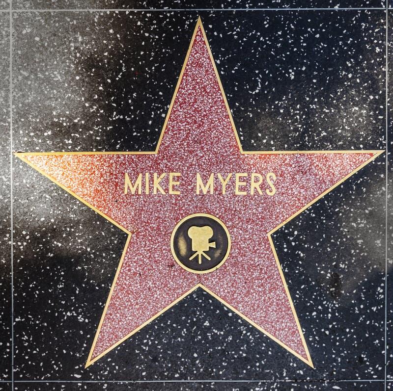 De ster van Mike Myers van de acteur op Gang Hollywood van Bekendheid royalty-vrije stock afbeelding