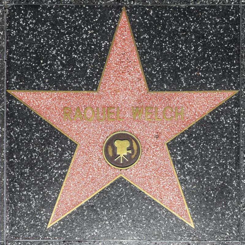 De ster van Raquel Welch's van de actrice op Gang Hollywood van Bekendheid royalty-vrije stock fotografie