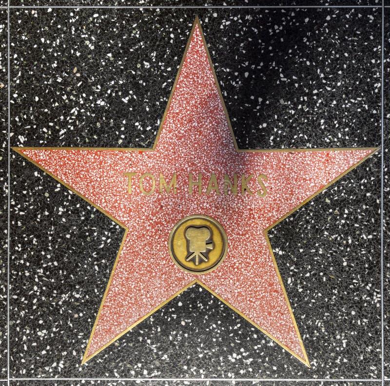 De ster van Tom Hanks van de acteur op Gang Hollywood van Bekendheid royalty-vrije stock fotografie