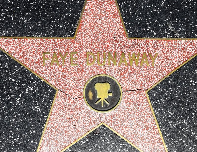 Fay van de actrice de ster van Dunaway op Gang Hollywood van Bekendheid royalty-vrije stock fotografie