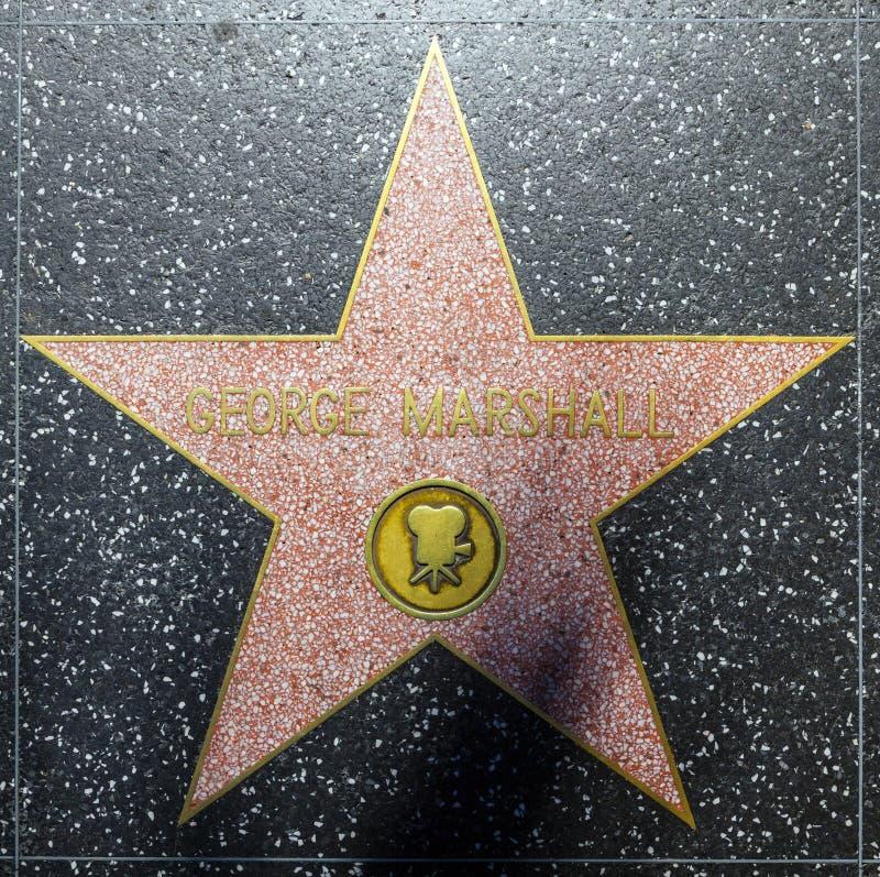 George Marshalls van de acteur ster op Gang Hollywood van Bekendheid stock foto's