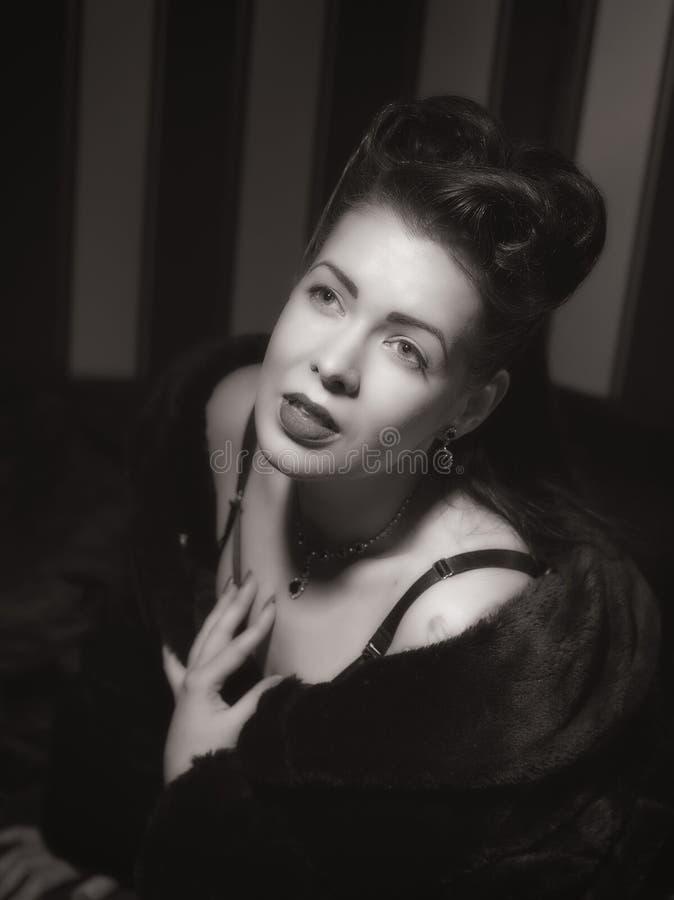 Hollywood kvinna royaltyfri bild