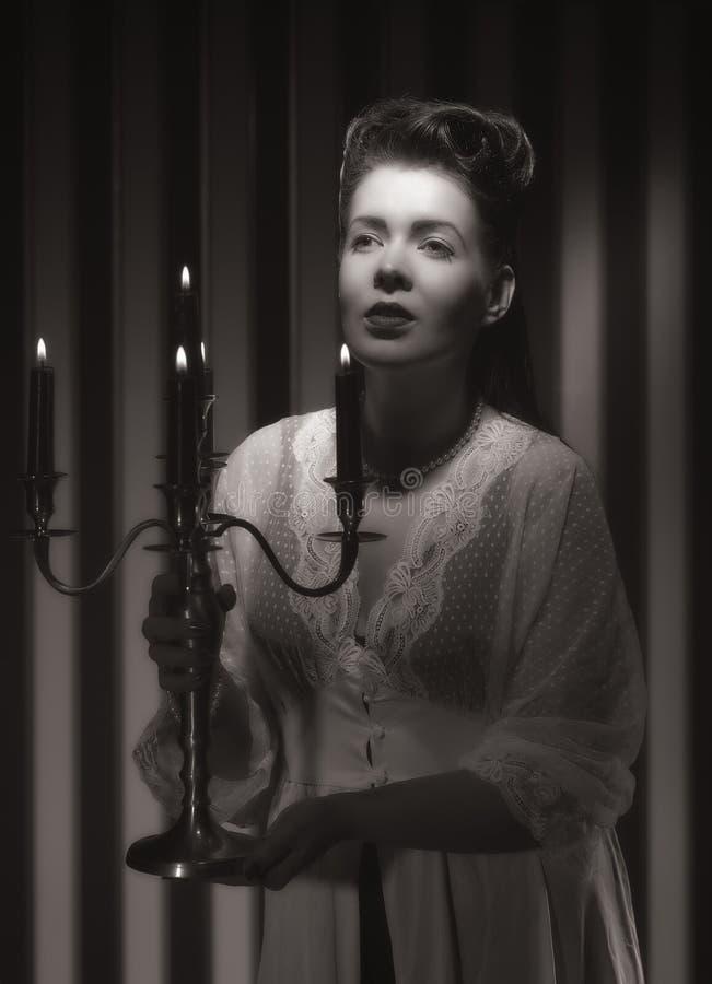 Hollywood kvinna royaltyfri fotografi