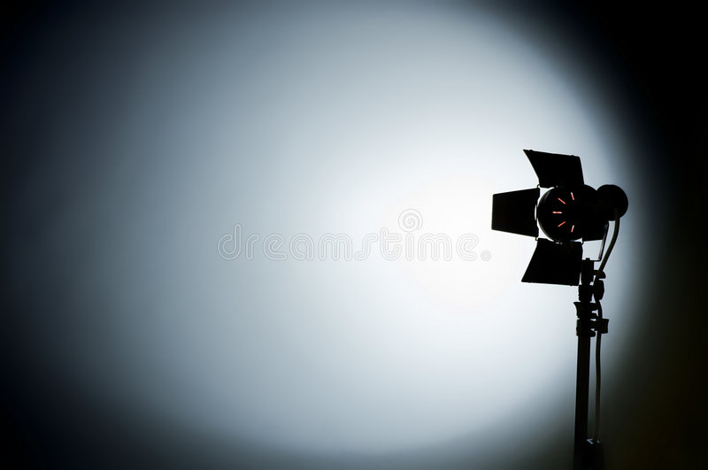 Download Hollywood Movie Studio Light Aimed At The Backgrou Stock Photo - Image of bright, lamp: 8302380