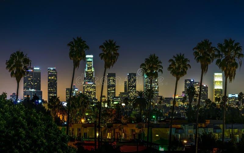 Hollywood natt i Kalifornien royaltyfria bilder