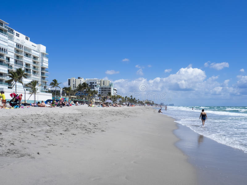 Hollywood plaża, Pembroke sosny zdjęcie stock