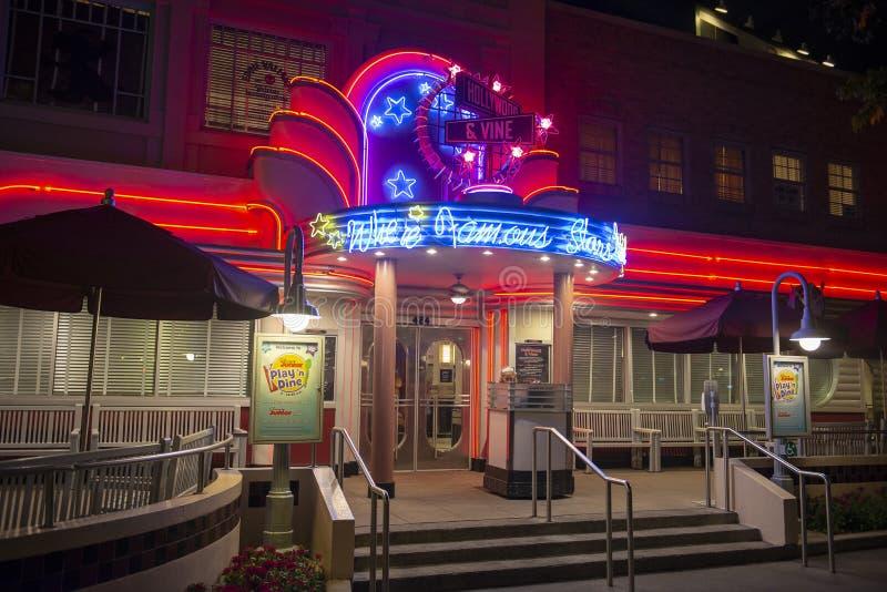 Hollywood & ristorante della vite, Disney World, viaggio fotografia stock libera da diritti