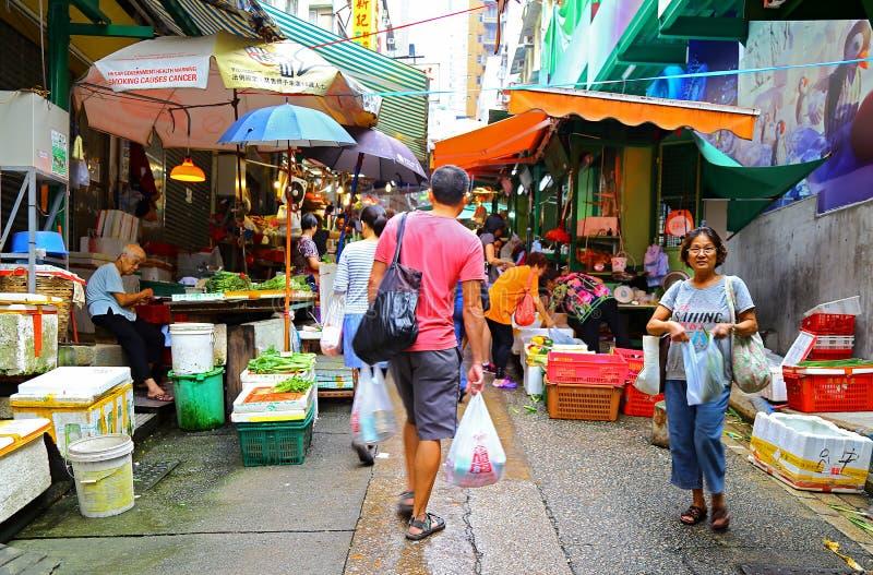Hollywood road market, hong kong stock image