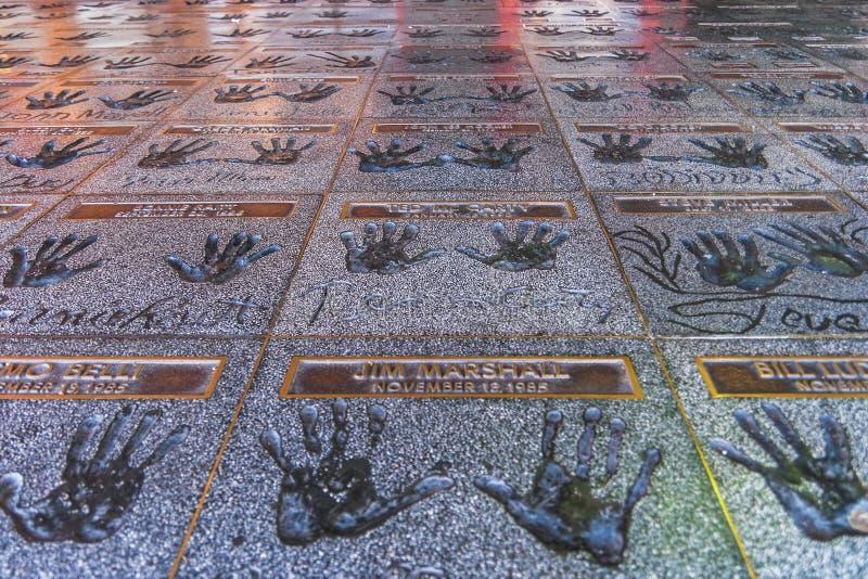 Hollywood Rockwalk royalty-vrije stock afbeeldingen