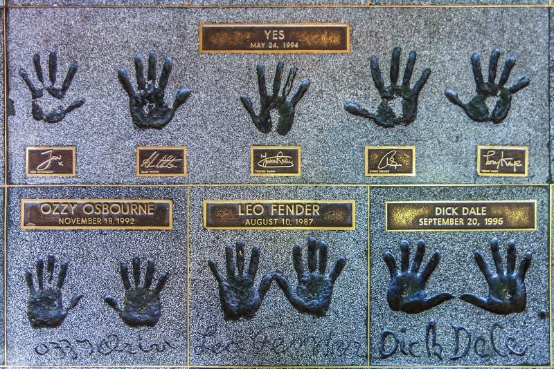 Hollywood Rockwalk arkivfoton