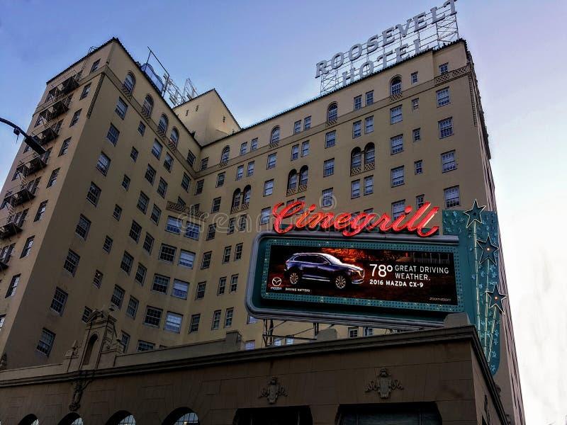 Hollywood Roosevelt hotel obrazy royalty free