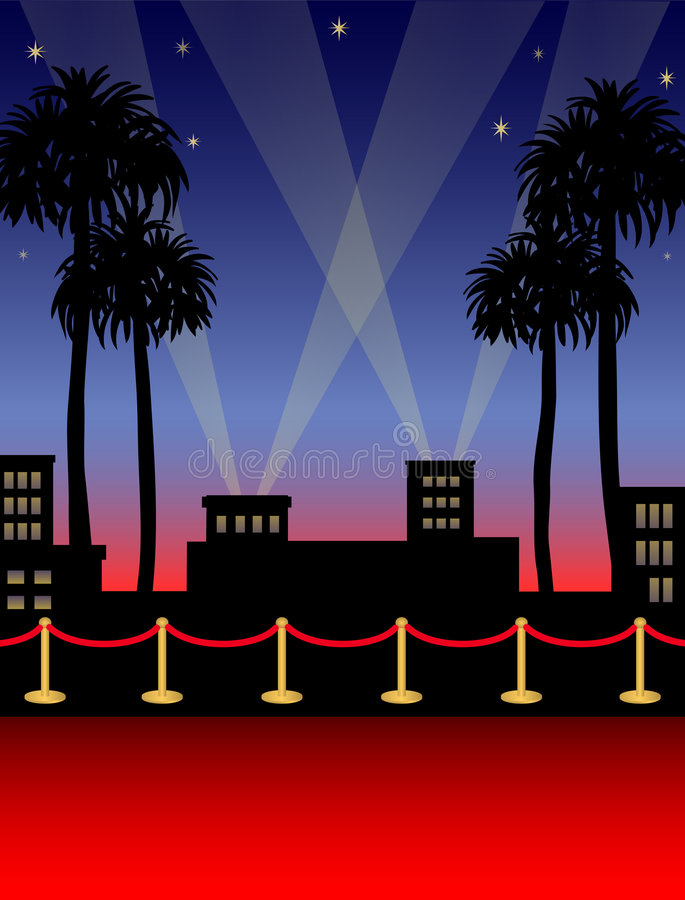Hollywood-roter Teppich/ENV stock abbildung