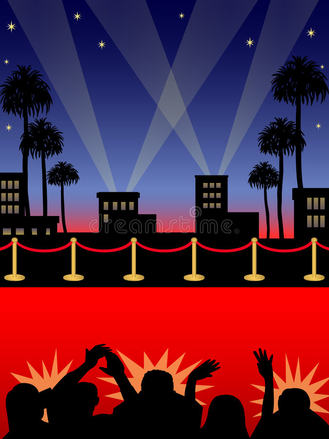 Hollywood-roter Teppich/ENV lizenzfreie abbildung
