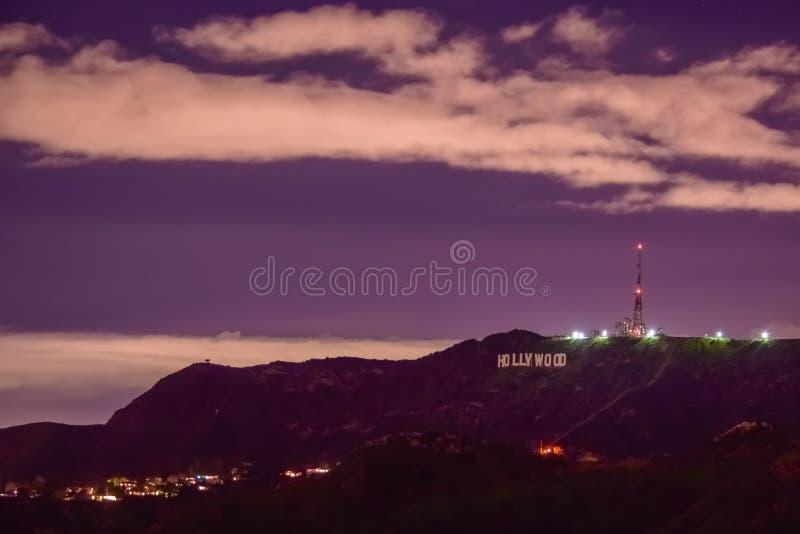 Hollywood`s Purple Hills stock image