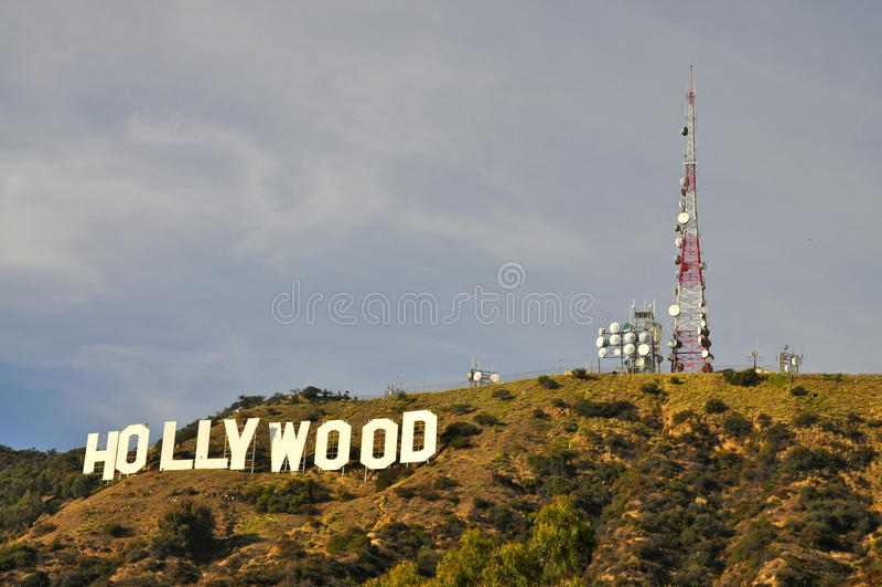Hollywood-Schriftzug stockfotos