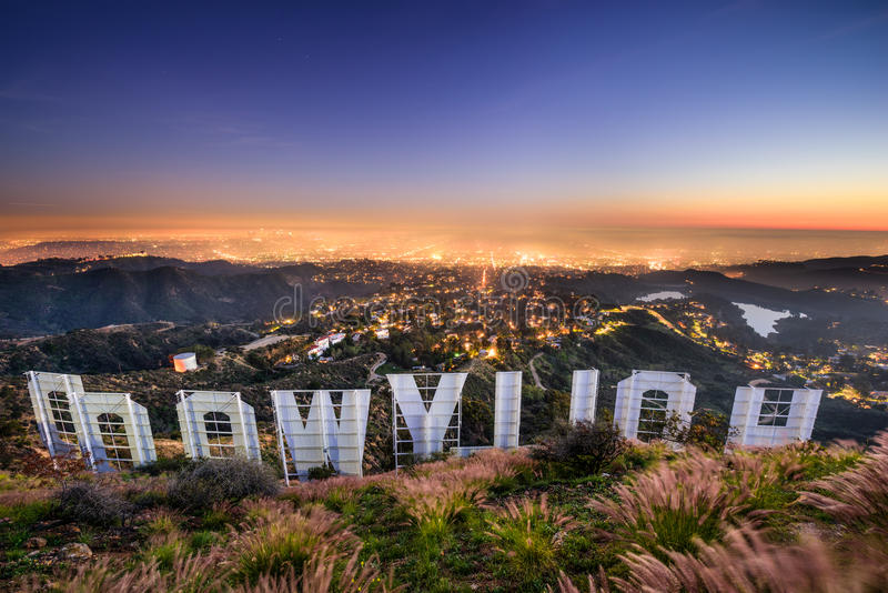 Hollywood-Schriftzug Los Angeles lizenzfreie stockfotografie