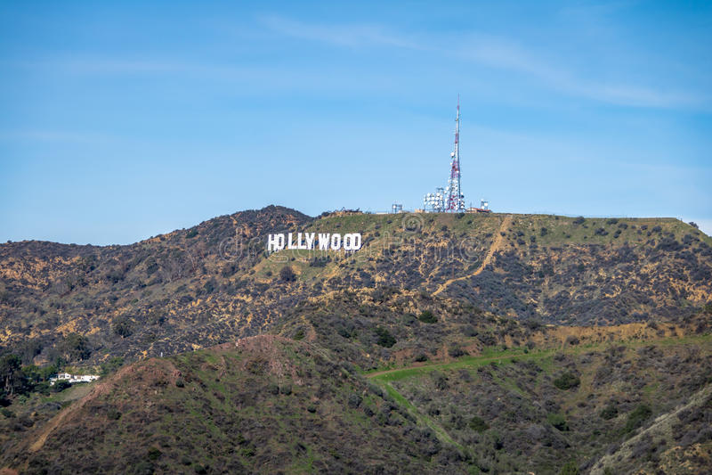 Hollywood-Schriftzug - Los Angeles, Kalifornien, USA stockfotografie