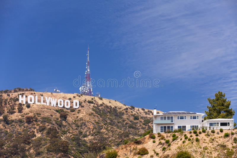 Hollywood se connectent la colline photo stock