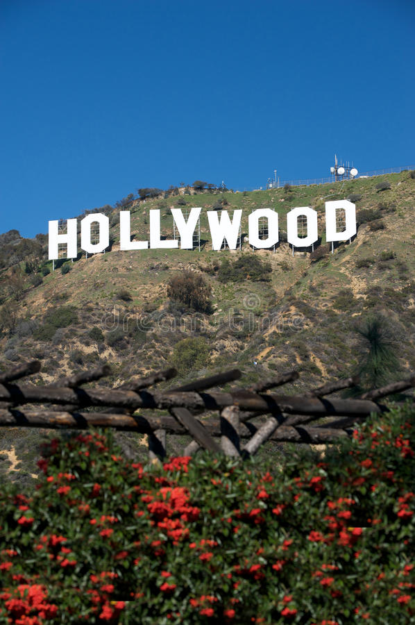 Download Hollywood sign editorial stock photo. Image of oscars - 13023688