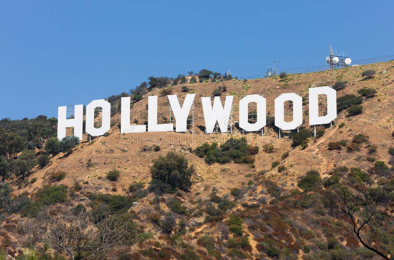 Hollywood Sign. HOLLYWOOD - SEPTEMBER 6: The world famous landmark Hollywood Sign on September 6, 2011 in Hollywood, California. It was created as an