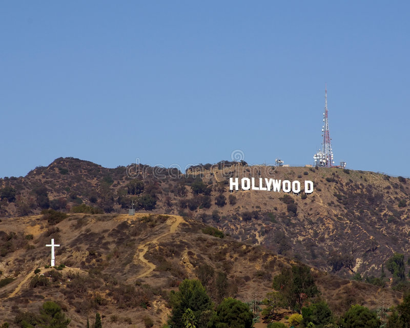 Hollywood sign stock image