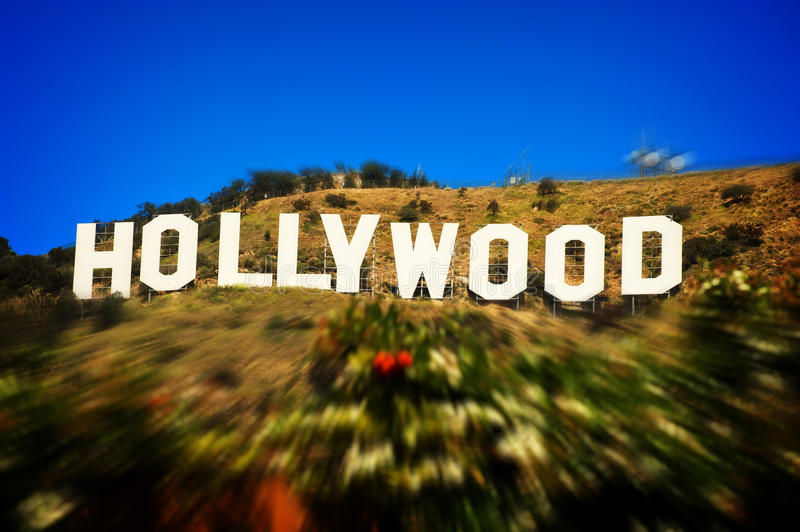 Hollywood sign. Photo of the famous Hollywood sign, landmark of the City of Los Angeles and symbol of the film industry royalty free stock photography