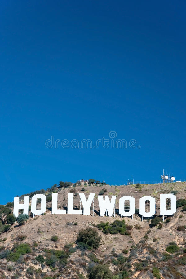 Download Hollywood Sign On Santa Monica Mountains In Los Angeles Editorial Stock Photo - Image of harbor, blue: 28924793