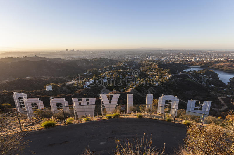 Download Hollywood Sign Sunrise Editorial Stock Image Of City