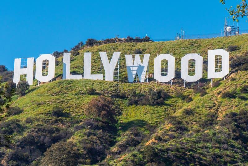 Hollywood signent dedans les collines de Hollywood - la Californie, Etats-Unis - 18 mars 2019 images stock
