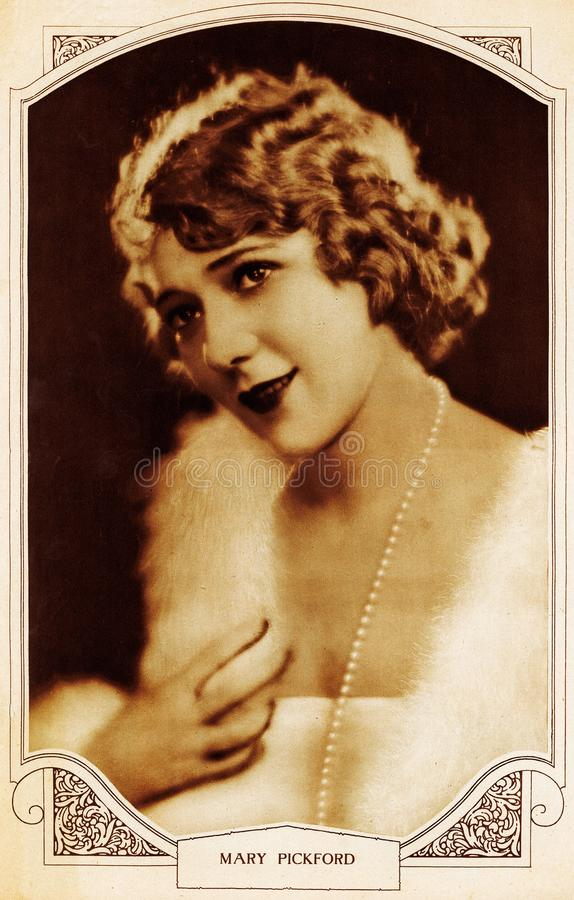 Free Hollywood Silent Movie Actress Mary Pickford Stock Photo - 160609910