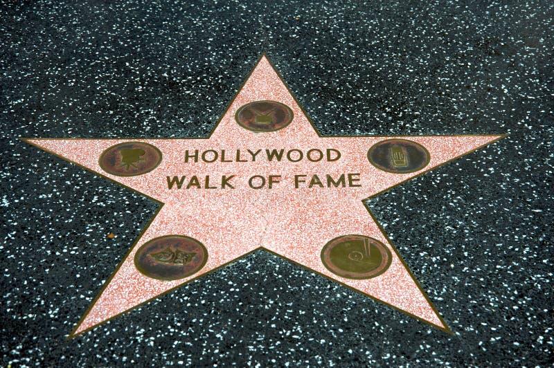 Hollywood spacer sława fotografia royalty free