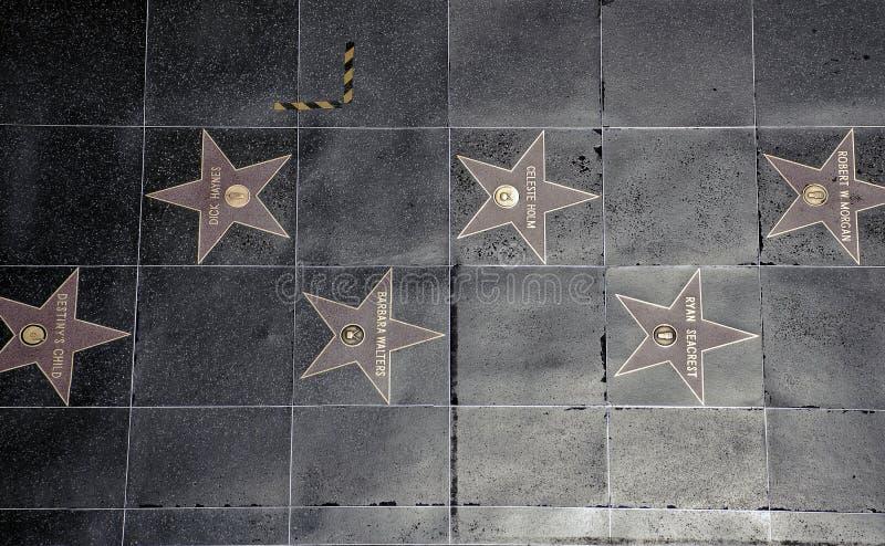 Hollywood spacer sława fotografia stock