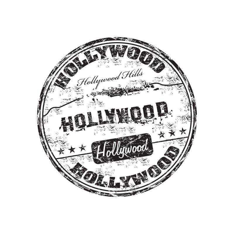 hollywood stämpel vektor illustrationer