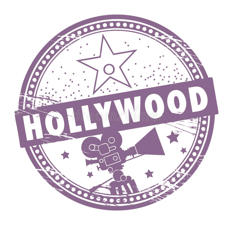 Download Hollywood stamp stock vector. Illustration of hollywood - 22704674