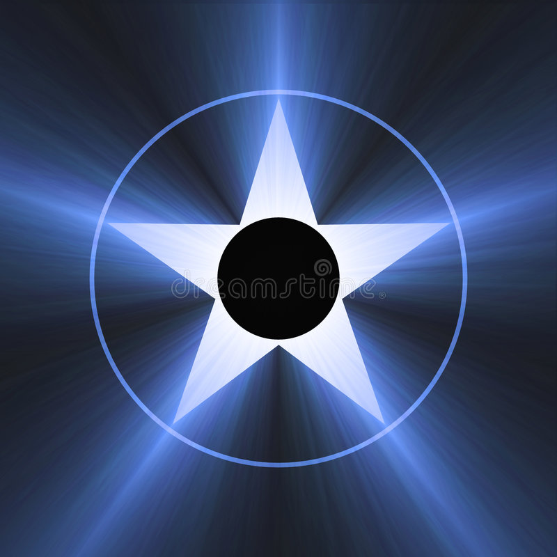 Hollywood Star Of Fame Blue Light Flare Stock Image