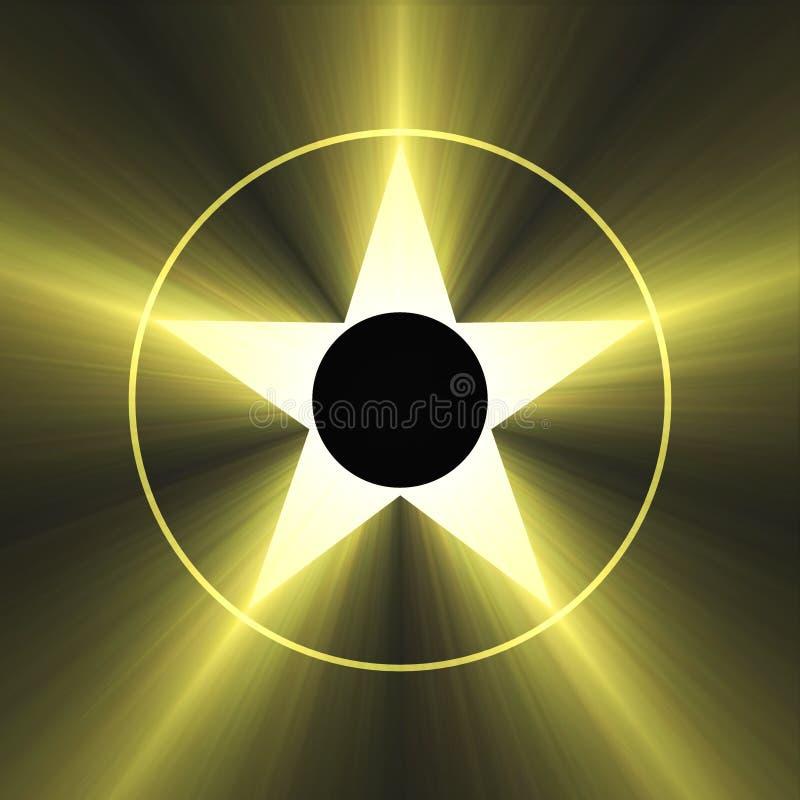 Download Hollywood Star Of Fame Shining Light Flare Stock Illustration - Illustration of element, background: 5484858