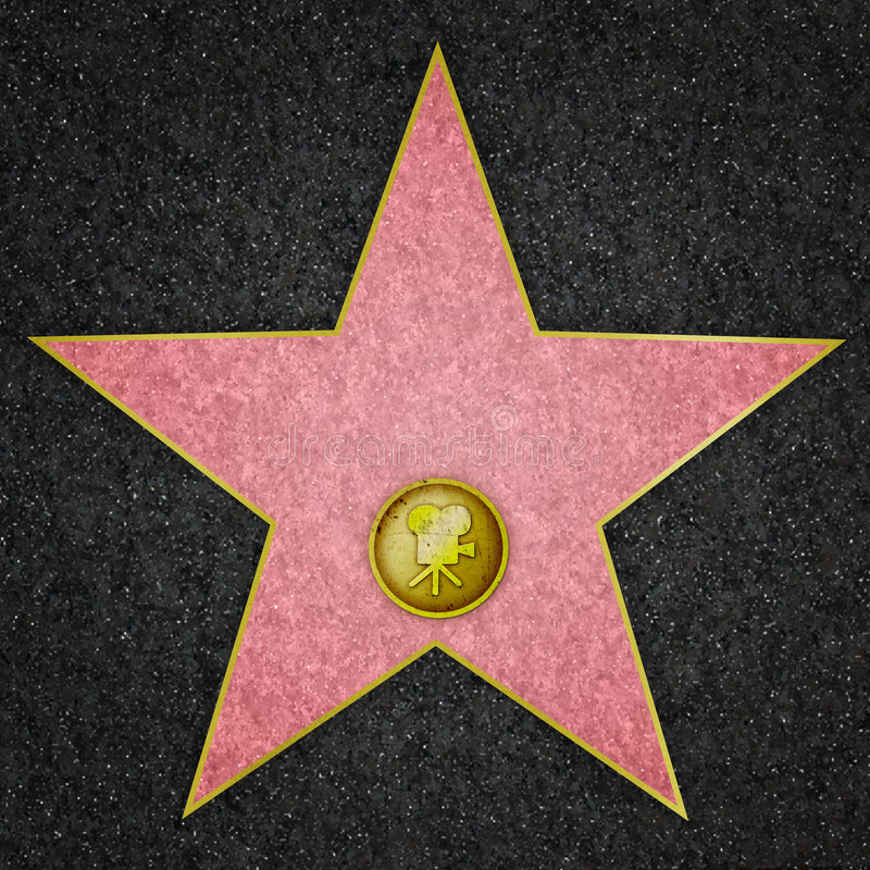Hollywood-Star - Filmstar stock abbildung