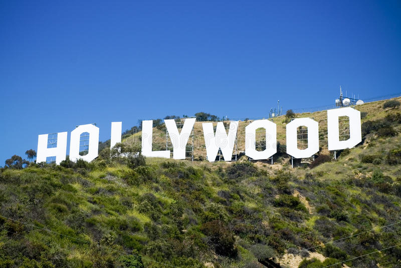 hollywood tecken arkivfoton