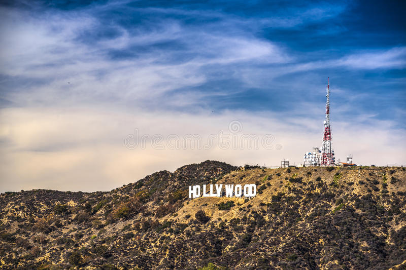 Hollywood tecken arkivfoto
