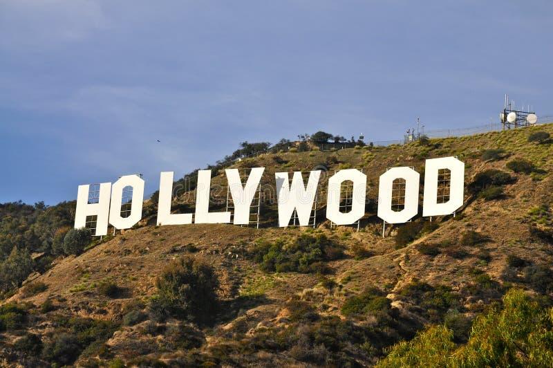 Hollywood tecken arkivbild