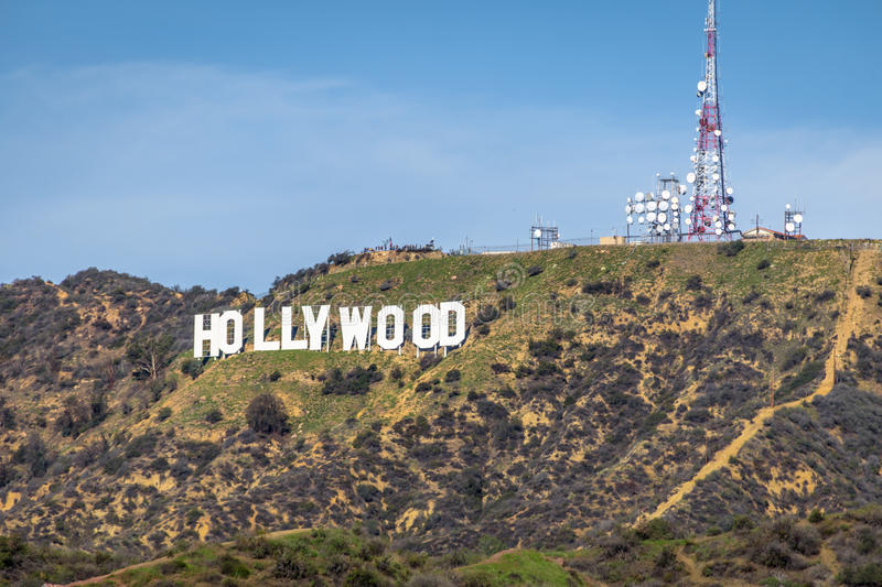 Hollywood tecken - Los Angeles, Kalifornien, USA arkivfoto
