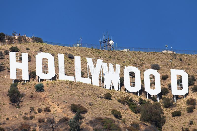 Hollywood-tecken royaltyfri bild