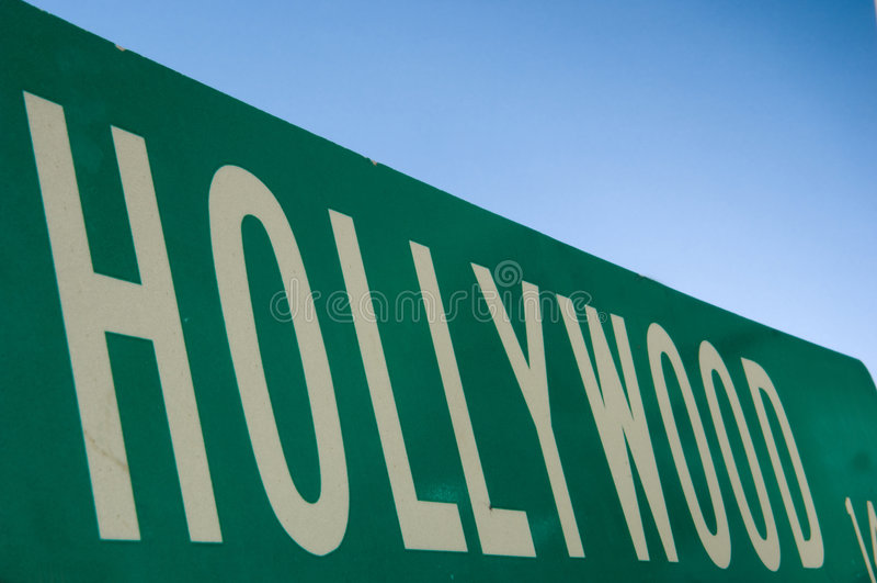 hollywood teckengata royaltyfria bilder