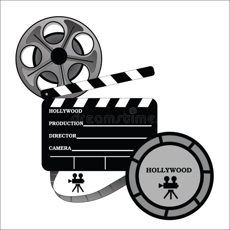 Hollywood toma uma produção ilustração royalty free