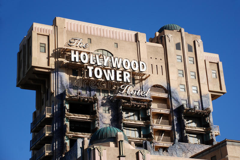 Download The hollywood tower hotel editorial photography. Image of disneyland - 16518532