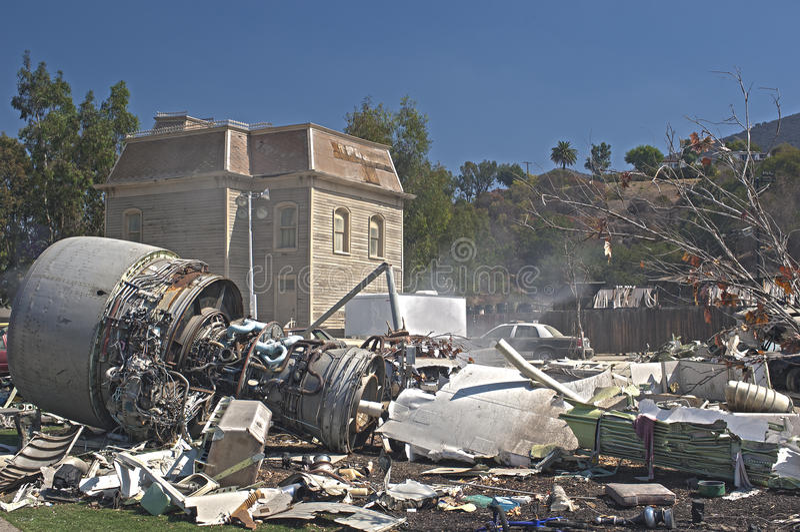 Hollywood U.S.A., il 2 ottobre: Immitation artificiale del Airplan fotografia stock libera da diritti