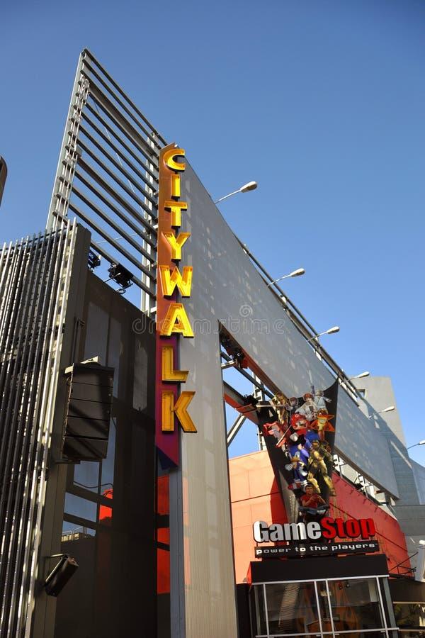 Hollywood universal Citywalk fotografía de archivo